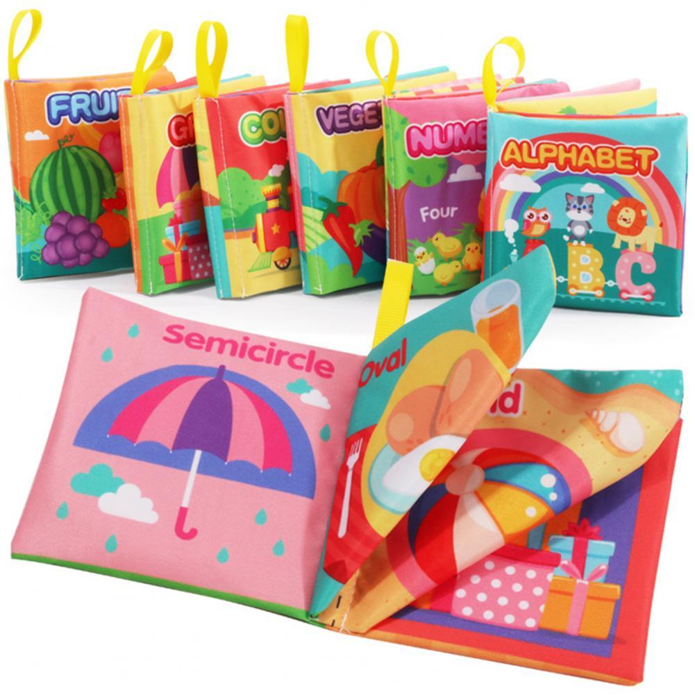Three-dimensional Soft English Baby Cloth Book Early Educational Cognitive Toy