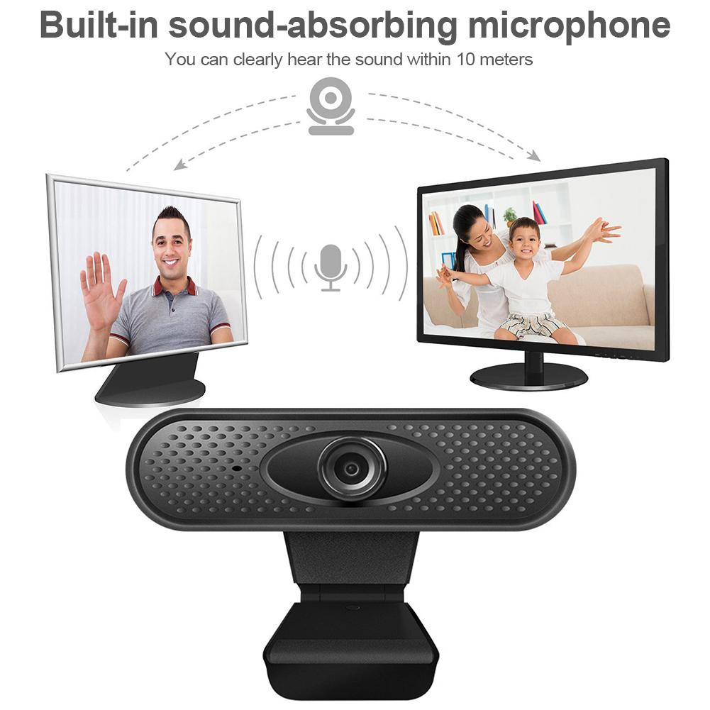 HD 1080P Webcam Pc Web Camera Built-in Stereo Microphone Computer Camera Full HD Skype Video Call For PC Laptop Live Equipment