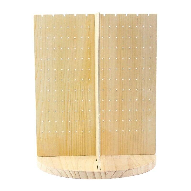 الدورية خشبية حاملات القرط حامل عرض مجوهرات درج منظم عرض موقف صندوق تخزين