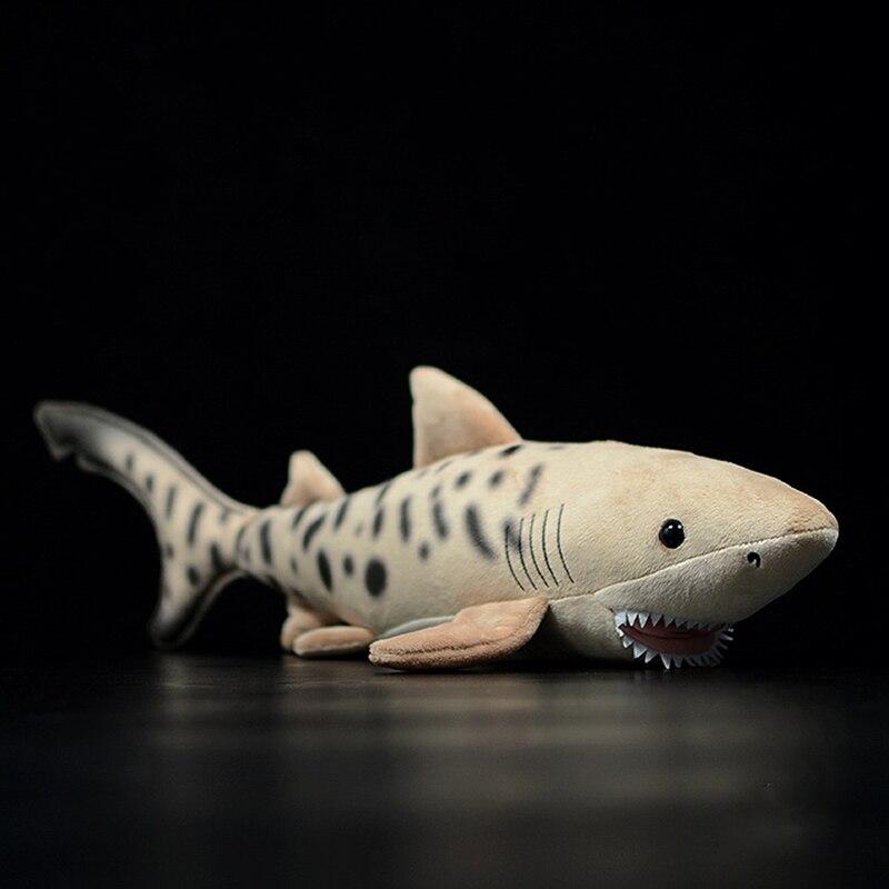 Extra Suave Lifelike Papel Timbrado Tubarão tubarão Brinquedo de Pelúcia Tigre-da Vida Do Oceano Da Vida Real Bichos de pelúcia Brinquedos Para As Crianças Presentes