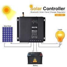 Contrôleur de Charge solaire 20A/40A MPPT double contrôleur photovoltaïque de Charge de batterie avec régulateur de Charge de panneau solaire Bluetooth 1