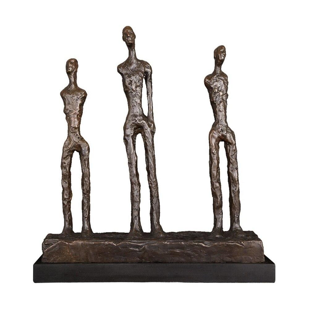 Klassische Statue Reproduktion durch Giacometti Bronze Berühmte Skulptur Kunst Sammlung Wohnkultur
