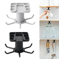 stainless steel wall hanger storage hook kitchen non slip type paste single hook free nail bathroom kichen organizer 40p