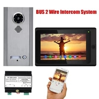7 inch wireless wifi 1234 monitor bus 2 wire video door phone intercom systems kit for home units apartment night vision