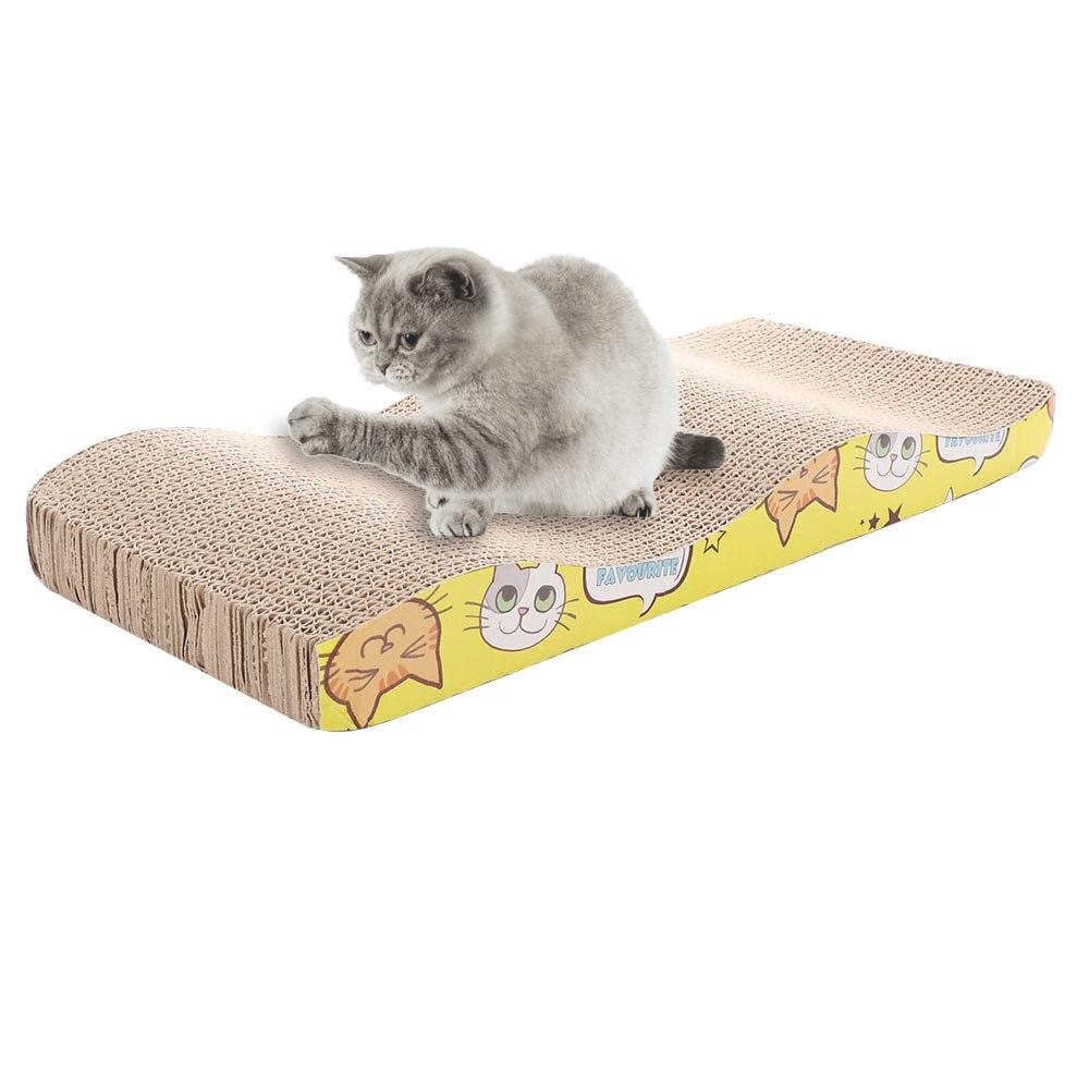 Rascador para gatos papel corrugado para gato juguete rascador uñas de molienda interactivo protege los muebles gato de juguete