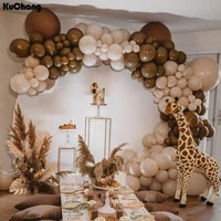 136pcsset double coffee balloons garland birthday wedding arch double skin latex balloon baby shower party decorations