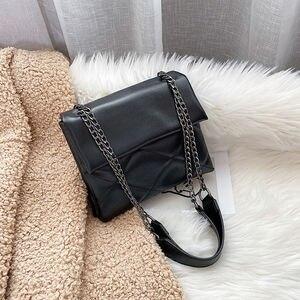2021 Women Bag Solid Color PU Leather Crossbody Bags For Women Chain Designer Lady Summer Travel Shoulder Messenger Handbags