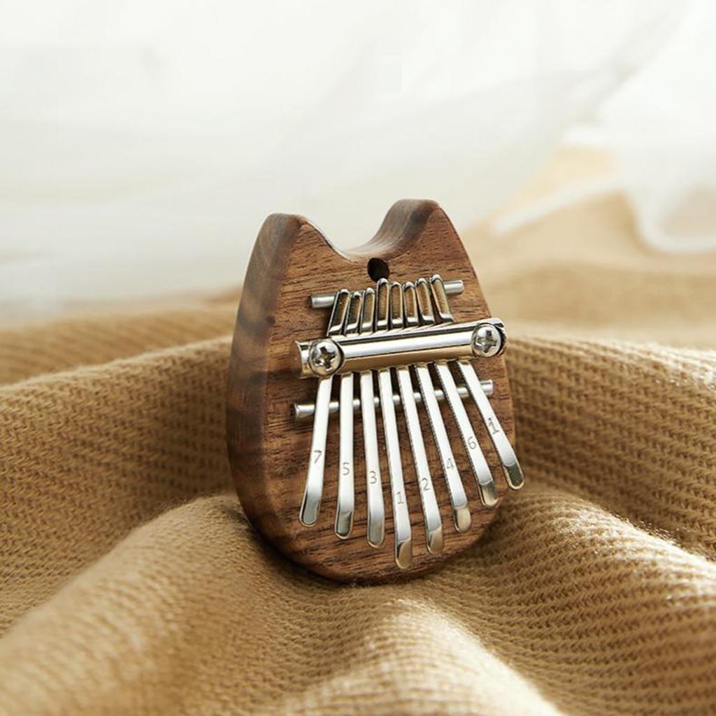 Portable New Crystal/Wood 8 Keys Mini Kalimba Thumb Piano Keyboard Instrument Body Musical Instrument for Music Lover Beginner enlarge