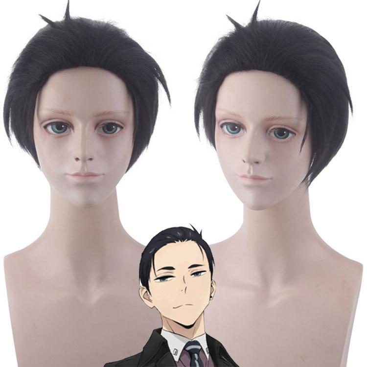 30CM Anime Balance:UNLIMITED Kanbe Daisuke Cosplay Wigs Millionaire Detective Kiyotaka Ishimaru Yakuza Black Hair Wig