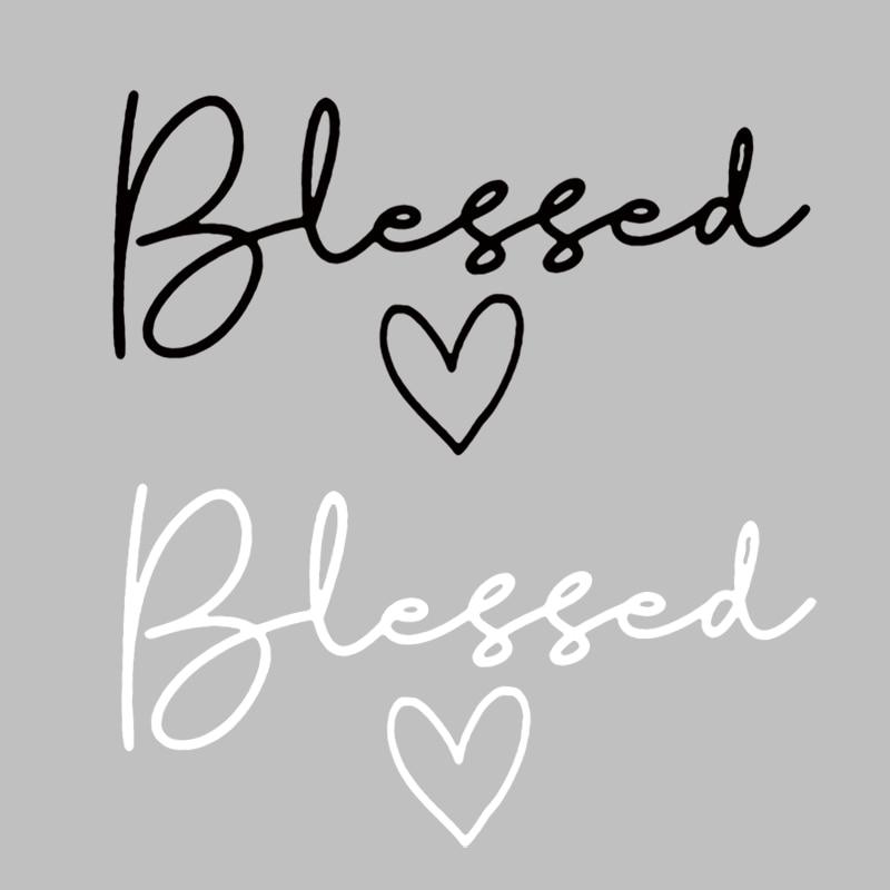 Parches de moda Blessed letter para ropa cristiana fe plancha de transferencia de calor pegatinas diy parche apliques ropa