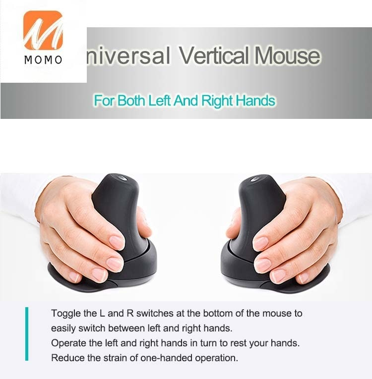 ergonomic optical vertical wireless mouse wireless vertical computer mouse enlarge