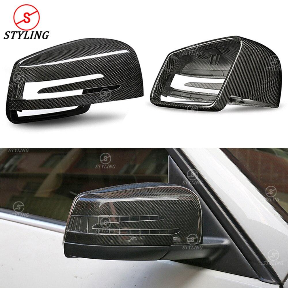 W204 seco protector de carbono para espejo para Mercedes W207 La CIA GLA GLK lado espejo retrovisor cubierta W176 W117 W218 W212 2007-2017, 2018 de 2019