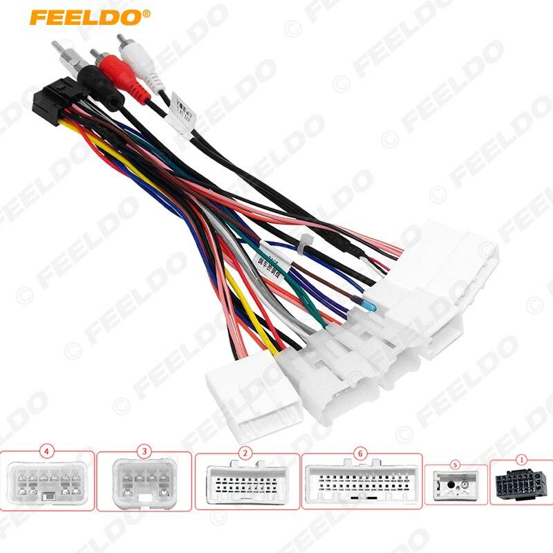 FEELDO-arnés de cableado de Audio de 16 pines para coche, adaptador de...