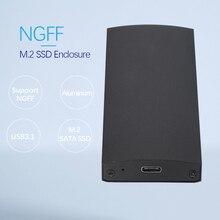 M2 NGFF to USB3.1/USB3.0 SATA Hard Drive Case Type-c External Hdd Enclosure for B+M Key