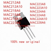 10PCS MAC212A8 MAC212A10 MAC218A6 MAC218A8 MAC218A10 MAC223A6 MAC223A8 MAC223A10 MAC224A6 MAC224A8 MAC224A10 MAC228A6 TO-220