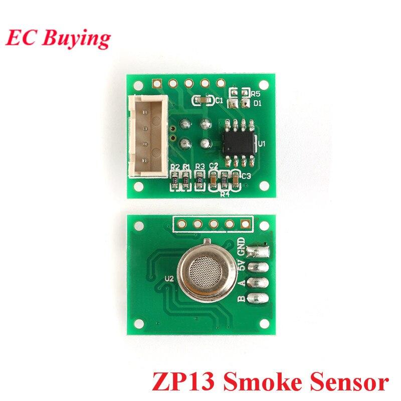 Sensor de fumaça de gás módulo zp13 detector de fumaça em casa interior sensor de fumaça alarme para arduino