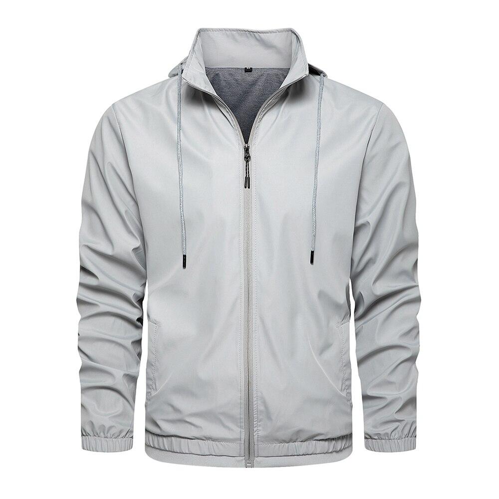 Мужская повседневная бейсбольная куртка-бомбер, Мужское пальто, мужская куртка на молнии, осенне-зимняя брендовая ветровка, приталенные па...