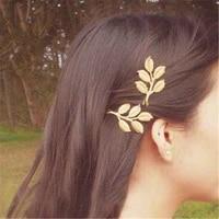 small fresh blonde hair clip geometric hairpin style fresh european and american retro word clip hair accessories