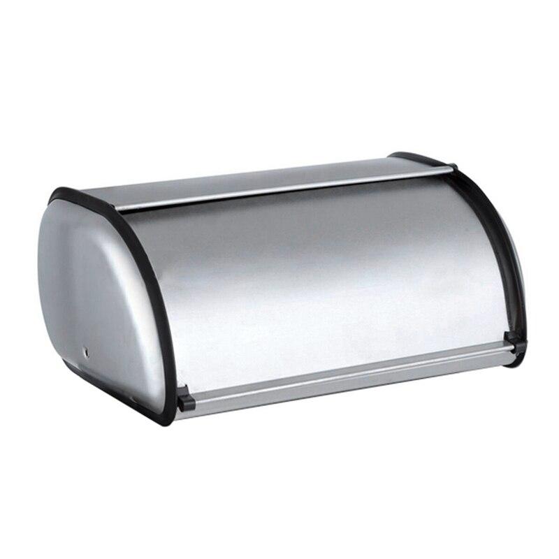 الفولاذ المقاوم للصدأ دائم بسيط الخبز حالة صندوق خبز تخزين مربع ل فندق مخزن المنزل مرآة المواد الخبز تخزين مربع 1 قطعة
