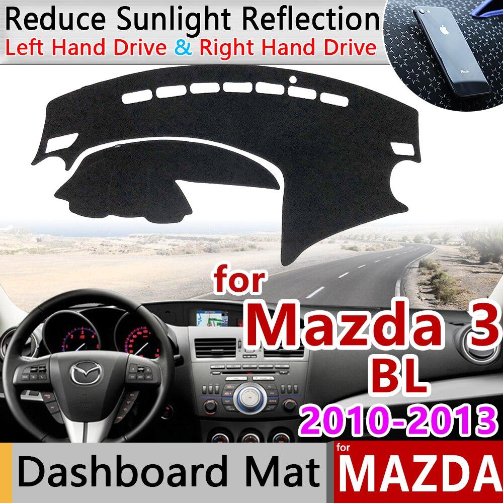 Para Mazda 3 BL 2010 2011 2012 2013 MK2 alfombrilla antideslizante almohadilla de la cubierta del tablero sombrilla alfombra dashmat accesorios para coche alfombra anti-sucia