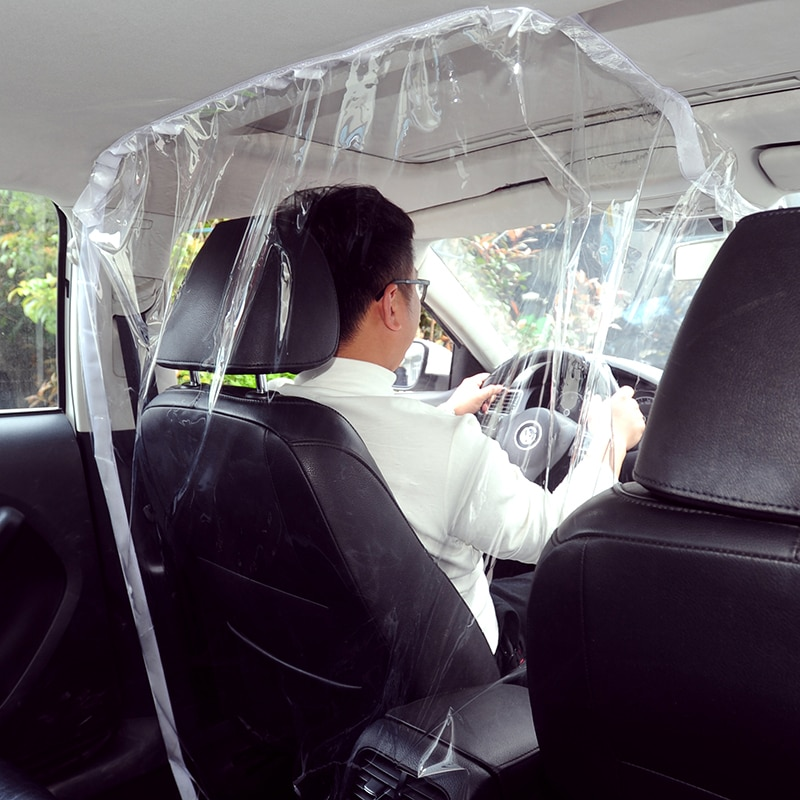 Película de aislamiento de Taxi para coche, funda protectora Envolvente completa de plástico con difusión antisaliva para asiento de conducción, Interior de coche