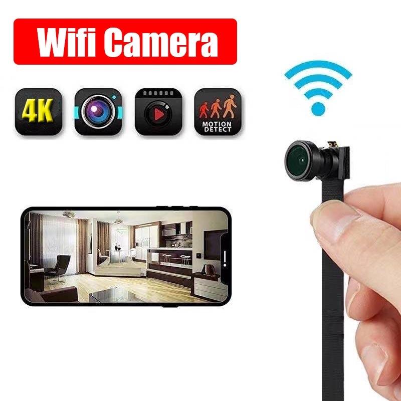 JOZUZE-كاميرا فيديو صغيرة WIFI IP 4K مع جهاز تحكم عن بعد ، وحدة تسجيل فيديو TF ، كاميرا فيديو P2P مع Motion DV 1080P