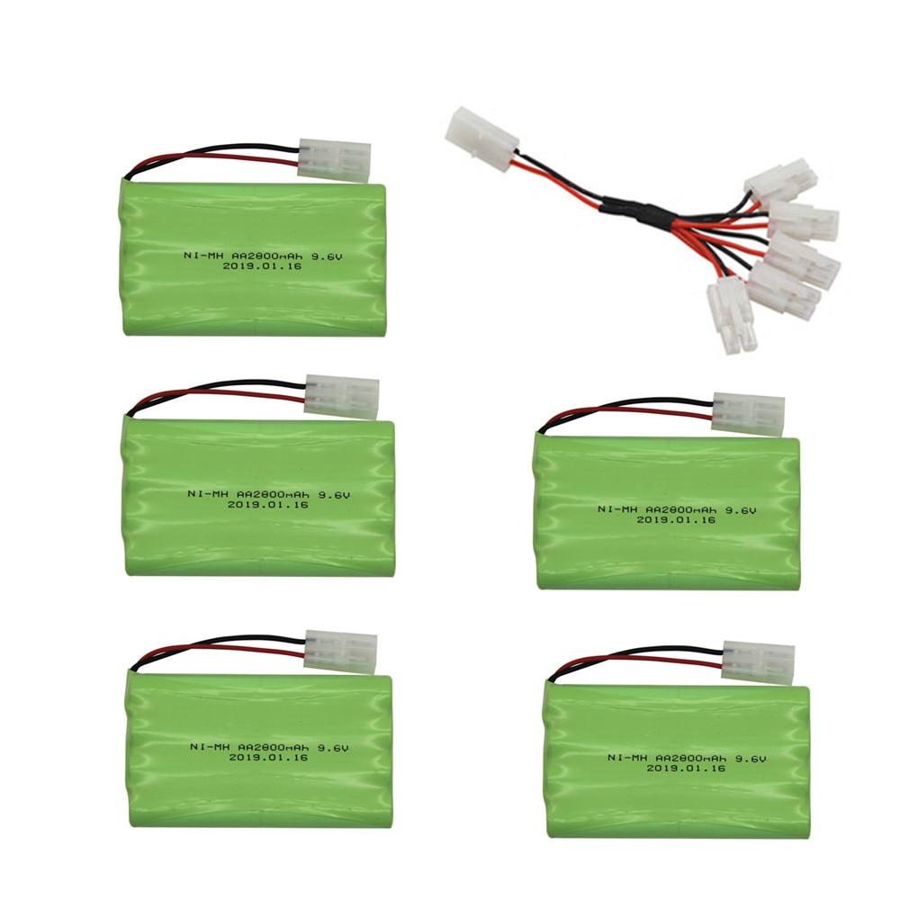 9,6 V 2800mah batería de Ni-MH AA 9,6 v Pack de batería recargable + cargador de 9,6 v para Rc coche de juguete tanque tren Robot barco arma espaà a