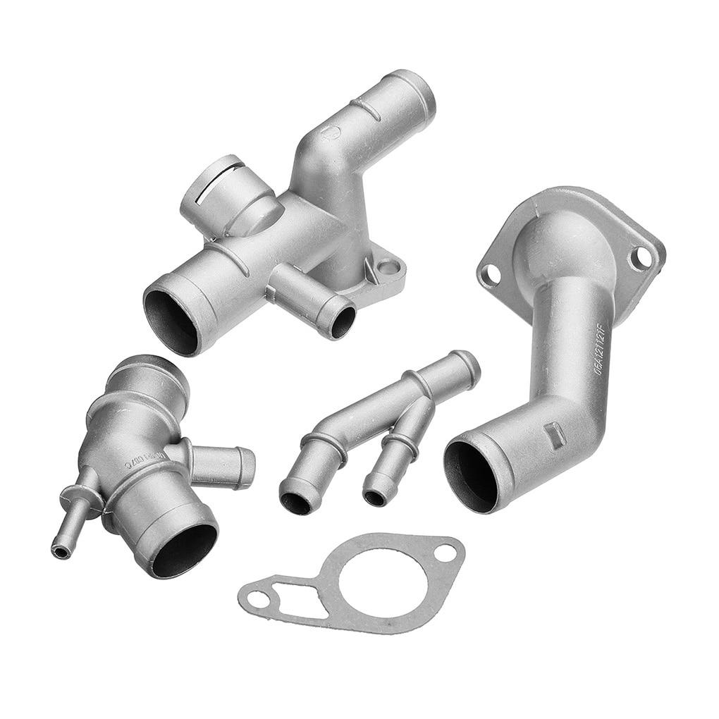 4pcs/set 06A121132A Replacement for MK4 1.8T TT Aluminum Coolant Flange Upgrade Kit Engine Cooling Coolant