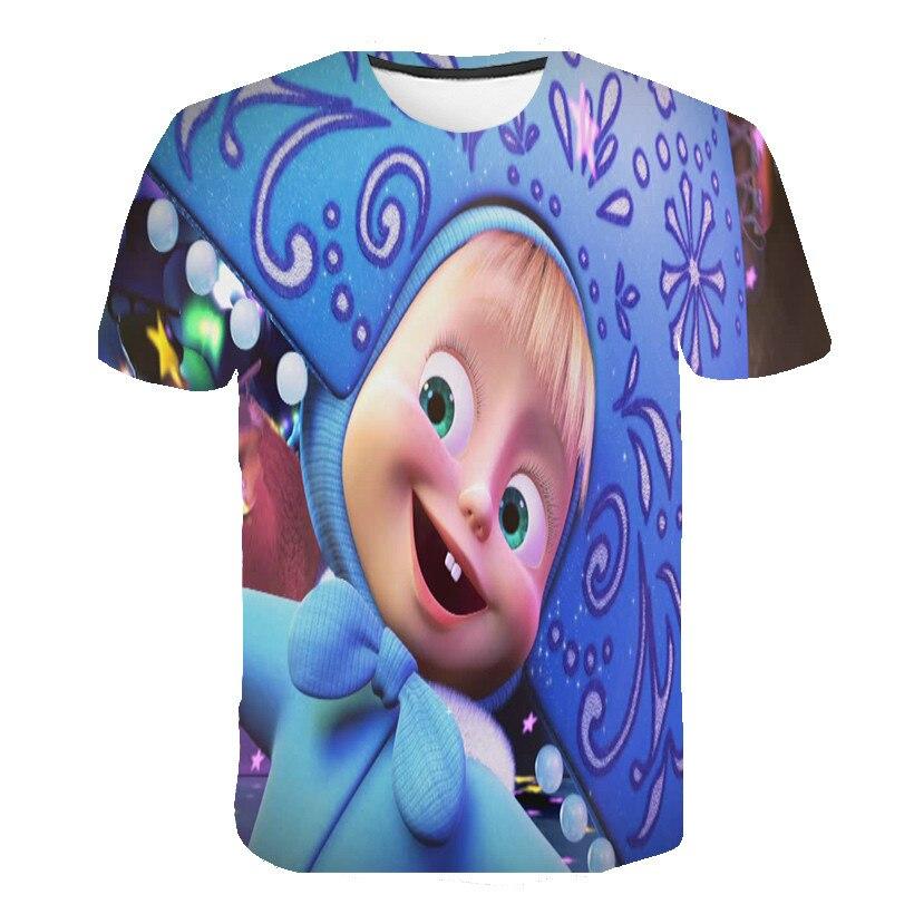 Summer Martha's T-shirt Cartoon Children's Clothing Girls And Boys T Shirt Cute Pattern Kids Short Sleeve Tops