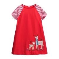 summer girls red dress little girl cartoon dress 2021 brand princess cotton baby clothing kids children clothes girl dress