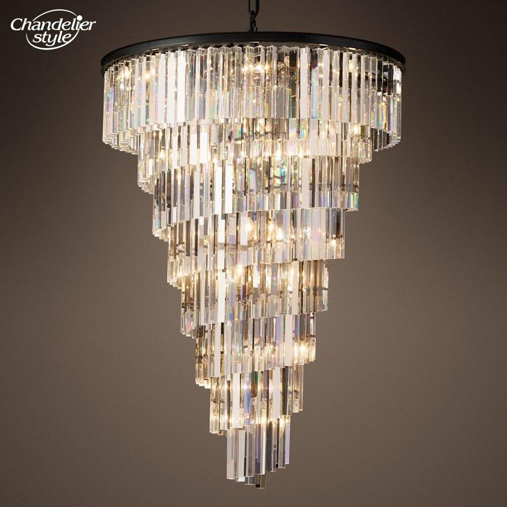 الحلزون الثريا نمط الحديثة دوامة أضواء الثريا بريق دي كريستال مصباح نجف LED زجاج الثريا مصباح معلق