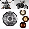 POSSBAY H4 LED Moto phare universel clignotant lumière pour Harley Honda Suzuki Yamaha café Racer Moto Faro lampe avant