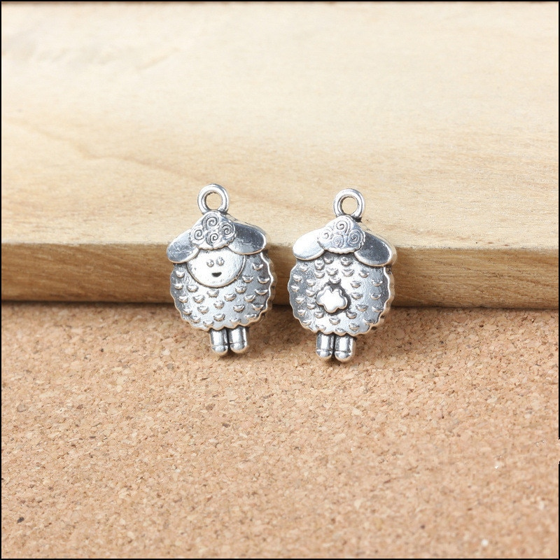 5 Metal Charms 20*13mm Sheep Charms for Jewelry Making Animal Pendant  - buy with discount