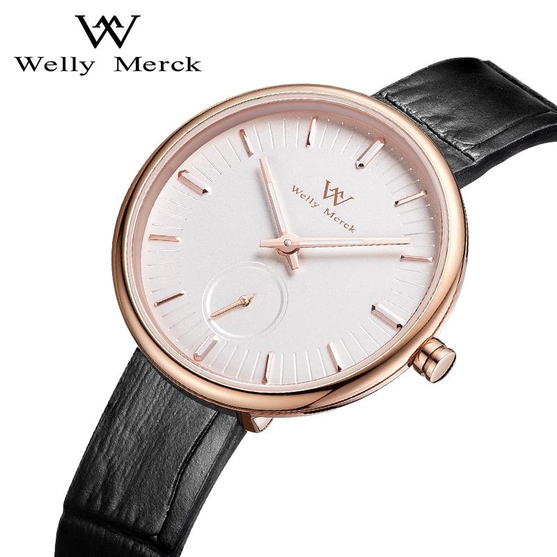 Welly Merck Luxury Brand Watches for Women Swiss Quartz Movement Waterproof Stainless Steel Case Ladies Watch relogio feminino enlarge