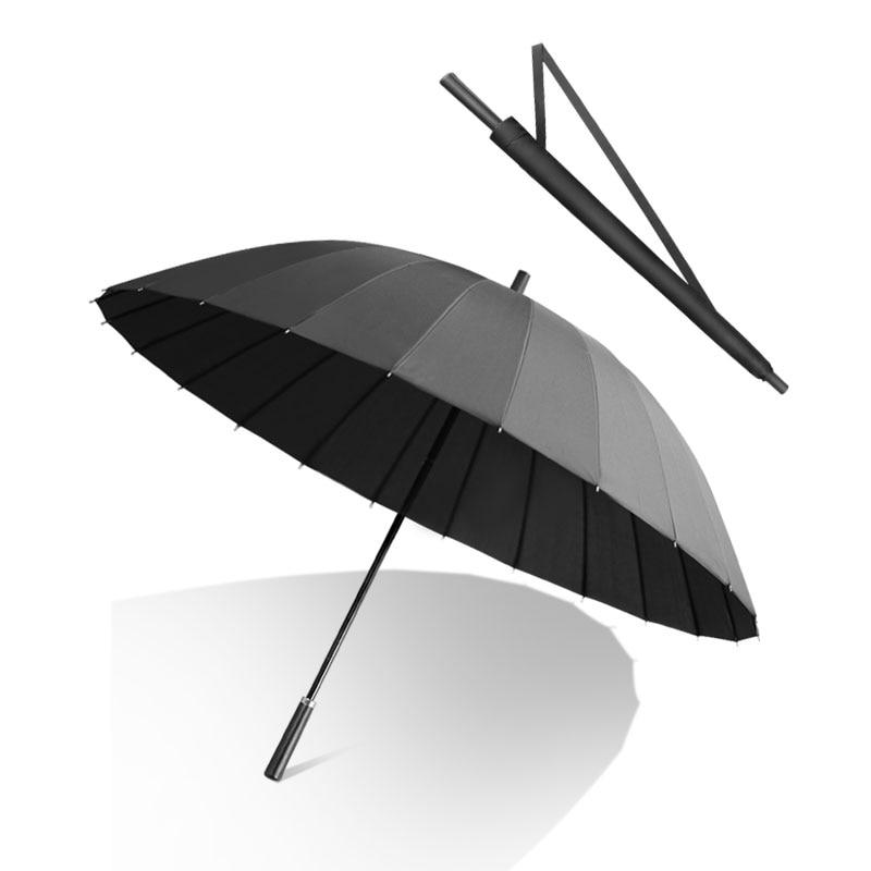 Automatic Long Handle Umbrella Windproof Mountaineering Men Large Rain Umbrella Thickened Windproof Paraguas Rain Gear DF50YS enlarge