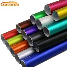 Carcardo autocollant de voiture en vinyle   Autocollant de voiture en vinyle chromé mat violet de 1.52m x 50cm