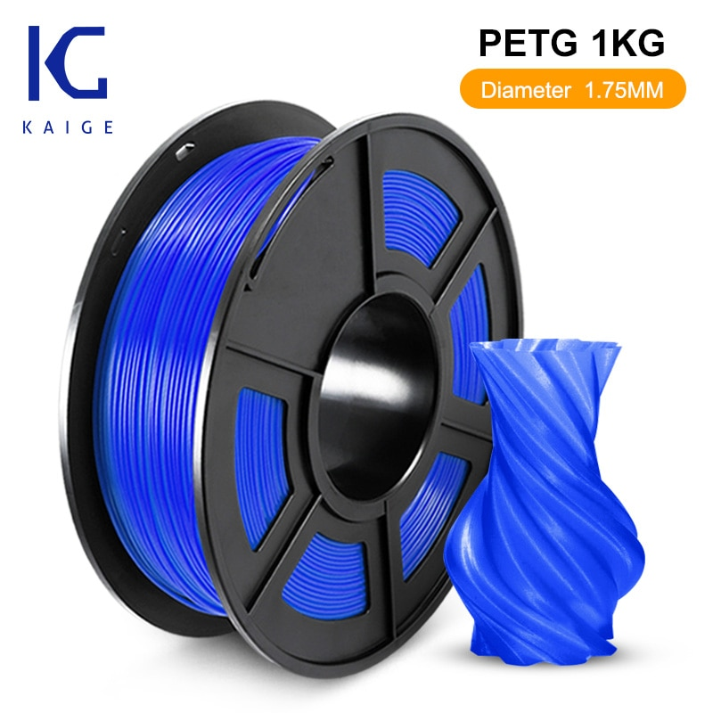 KAIGE PETG 1.75mm 1kg blck 3D Printer Filament petg пластик 1 кг Good acid and alkali resistance Stable print size