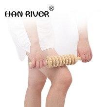 meridian shaft rod full-body massage stick rolling back massage lamented the waist neck leg wooden  Belly leg roller H0069