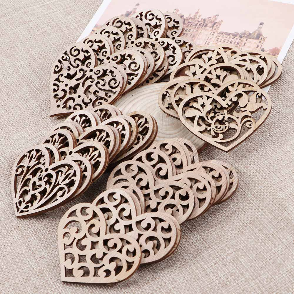 AliExpress - 10 Pcs Carving Hollow Heart Pattern Wood DIY Crafts Scrapbooking Painting Collection Craft Handmade DIY Home Decoration