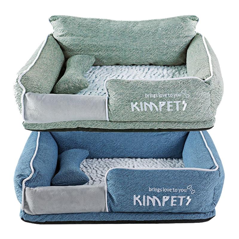 Large Pet Dog Beds 70x55x27cm Bulldog Kennel Mat Cat Blanket Winter Pets Grown Up Teddy Corgi Dogs Bed Mattress Soft Puppy House