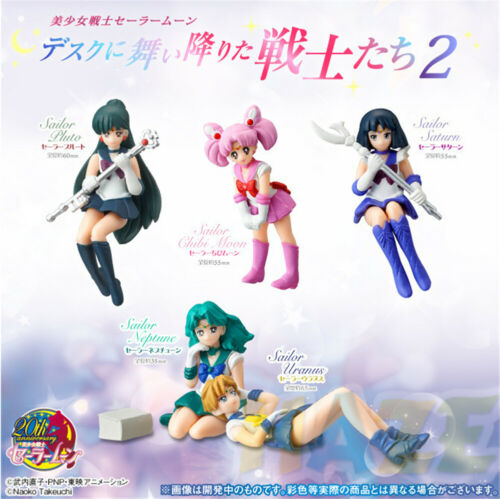 5 unids/set Anime Sailor Moon Rei Hino Mizuno Ami juguete de modelo de figura escritorio + borde de la taza