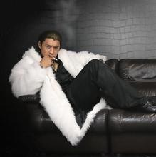 Herfst faux nertsen bont leren jas mens winter thicken warm Mid-lengte bont leren jas mannen losse jassen jaqueta de couro B116