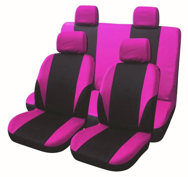 Cubierta universal de asiento de coche Set 8 Uds fundas de asiento delantero asiento trasero reposacabezas cubierta poliéster negro y gris 6 estilos opcionales