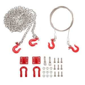 RC Car Parts Metal Trailer Hook Tow Chain Shackle Bracket for 1/10 RC Crawler Traxxas Trx4 Axial Scx10 Wraith D90 Tamiya