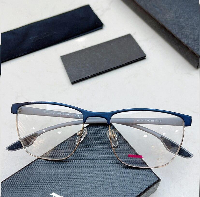 خمر اليدوية نظارات بمادة الخلات إطار الرجال النساء الفاخرة العلامة التجارية الرجعية وصفة قصر النظر البصرية النظارات إطار نظارات VPS50L