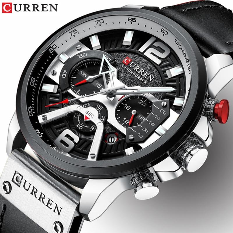 CURREN Mens Watches Top Brand Luxury Men Military Sport Wristwatch Fashion Casual Leather Quartz Watch Relogio Masculino 8329 curren watch relojes hombres de la marca de lujo curren reloj inteligente montre relojes curren men watch