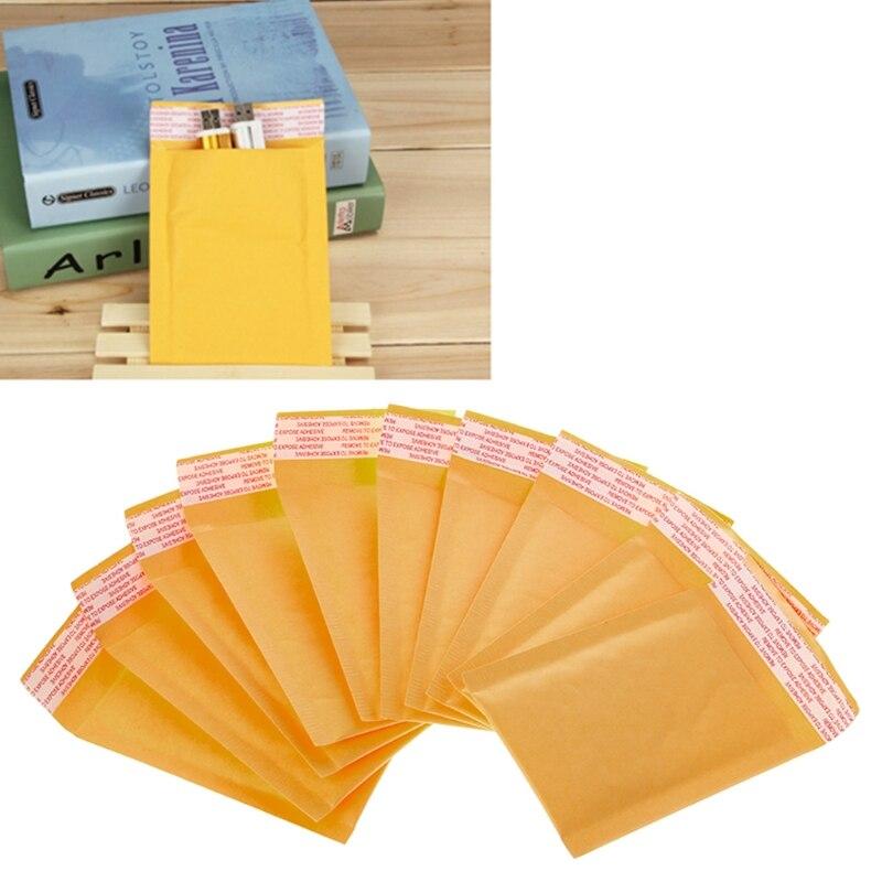 10 Pcs Kraft Bolha Sacos De Discussão Bolha Utentes Acolchoado Amarelo Sacos de Discussão Envelopes de Papel Grátis dropshipping
