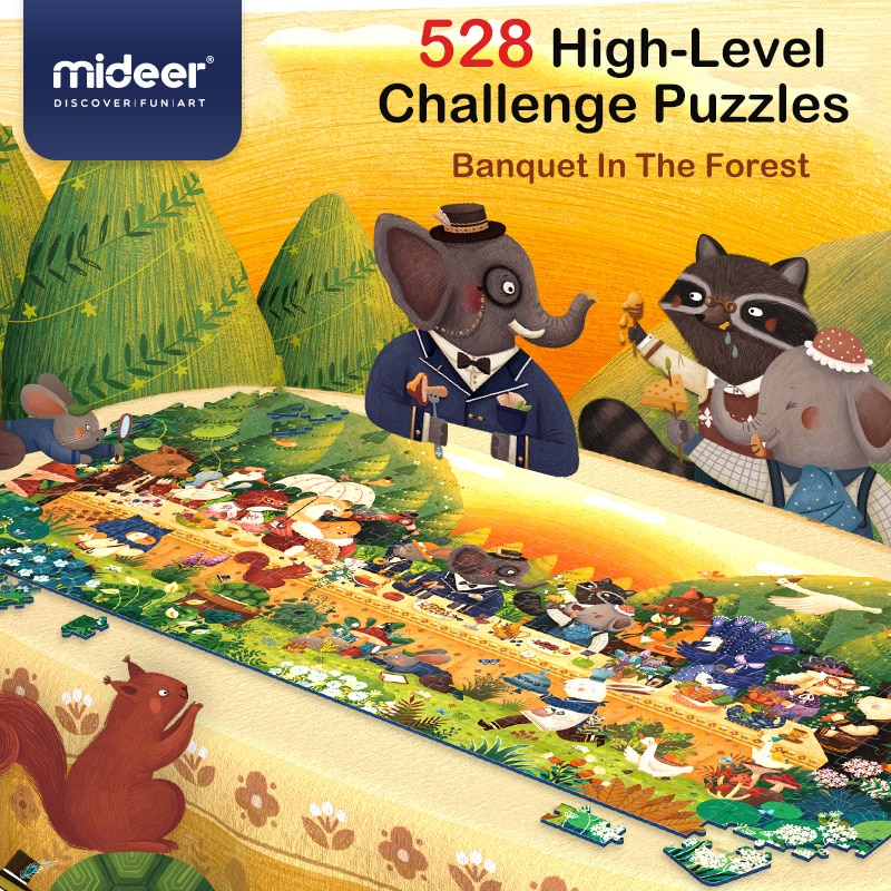 Spectacular animal meal puzzle. 528 parts