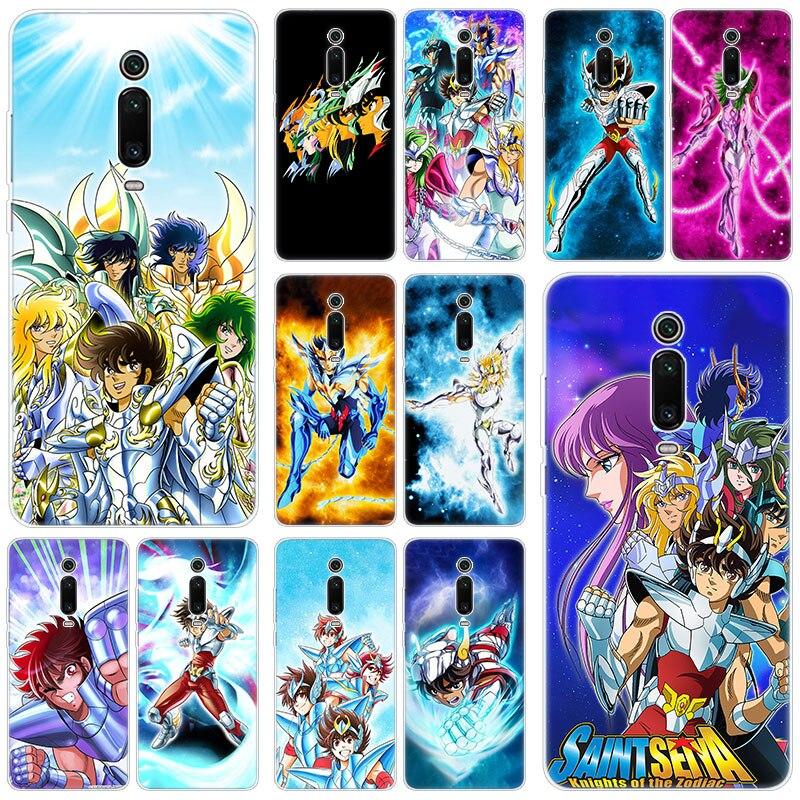 Saint Seiya Shiryu Anime Silicone Case for Xiaomi Mi 9T Pro CC9E 9 9SE 8 A3 A2 Lite A1 5X 6X Mix 3 2S Play Pocophone F1 Cover