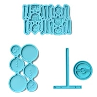 skeleton snowman silicone earring mold t shaped bracket mould resin jewelry silicone molds earring making kit for craft jewelry